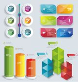 stock photo of cans  - Set Infographic Design - JPG