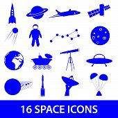 space icon set eps10