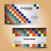 business card color bricks eps10