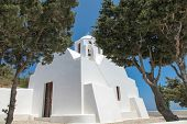 Chapel On Santorini Island
