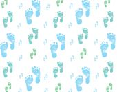 Blue Baby feet background