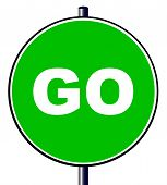 Go Traffic Sign