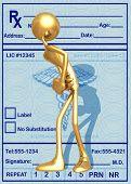 3D Stomach Ache Concept