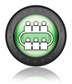 Icon, Button, Pictogram Conference