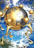 3D Globe Concept World Struggle