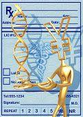 3D Medical Concept Yen Presenting DNA