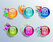 Sale tags sale banners set shopping