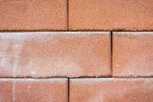 Closeup Of Old Red Brick Wall Texture