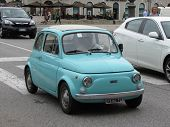 Light Blue Fiat 500