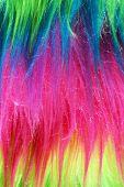 Neon Color Faux Fur Background Vertical