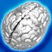 3D Metallic Brain Background