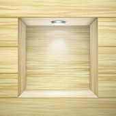 Wooden Wall With Empty Niche