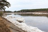 Kan River after an ice drift in Zelenogorsk