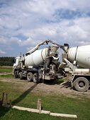 Pouring Concrete Mixer With Pump Without Pump Mixer