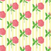 Floral seamless pattern. Background of roses