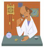 Watchmaker illustration