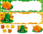 Two web banners for thanksgiving