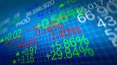 Stock Market. Shallow Depth Of Fields.
