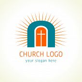 Jesus is the door of salvation church logo
