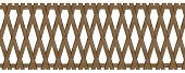 Wooden Trellis-work Fence