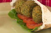 Falafel In A Pita Pocket