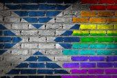 Dark Brick Wall - Lgbt Rights - Scotland
