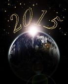 Dawn Of Year 2015 On Earth -elements Of This Image Furnished By Nasa