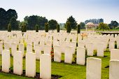 First World War Cemetery In Belgium Flanders