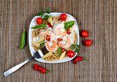 Freshly Homemade Creamy Shrimp Alfredo Pasta