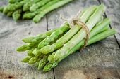 Bundle Of Of Ripe Organic Asparagus