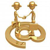 E-Commerce Business Communications Handshake