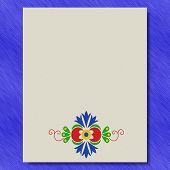 Moravian Folk Ornament Writing Paper Metal Texture Background