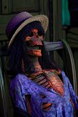 Spooky Female Skeleton