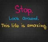 Stop look around