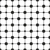 Tile black and white vector pattern or simple geometric background wallpaper
