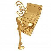 Euro Holding Giant Golden Calculator