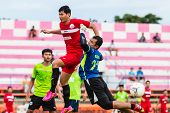 Sisaket Thailand-september 17: Unidentified Goalkeeper Of Sisaket Utd. In Action During Unofficial F