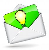 Lightbulb In Mail Icon