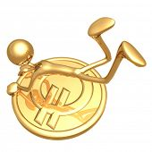 Hanging On To A Gold Euro Coin