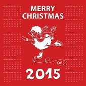image of counting sheep  - Calendar new Year 2015 - JPG