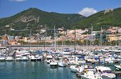Picturesque view of marina in Salerno, Italy