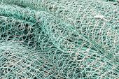 Closeup Of Green Netting