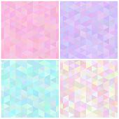 Abstract Triangular Seamless Patterns