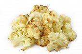 Roasted Cauliflower On White Background