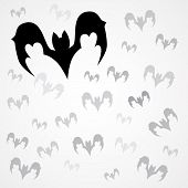 picture of vampire bat  - Set of vector black vampire bats for Halloween on light background - JPG