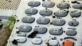 Old dirty retro telephone keypad