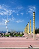 Communication Tower And Olympic Park, Barcelona Spain