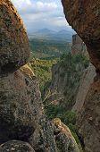 Belogradchik rock - look from one rock cleft