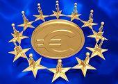 European Union Around Gold Euro Coin