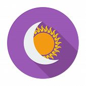 Solar eclipse single icon.